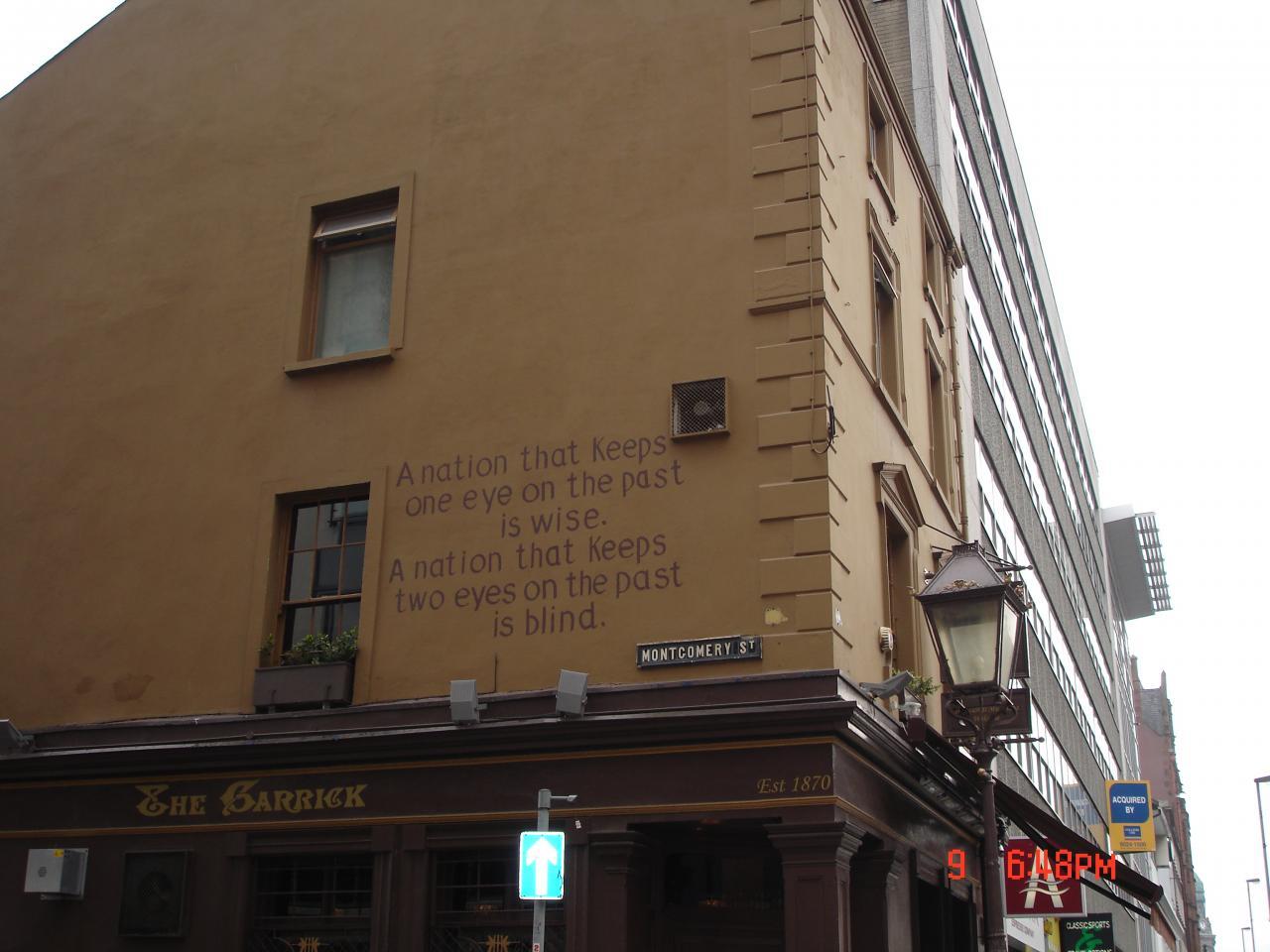 Angle d'une rue à Belfast